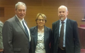 Jacques Pélissard, former Chairman of the Association des Maires de France and one of the founding members of Agence France Locale, Mme Lebranchu, Minister for Decentralization and Civil Service and Lars M Andersson
